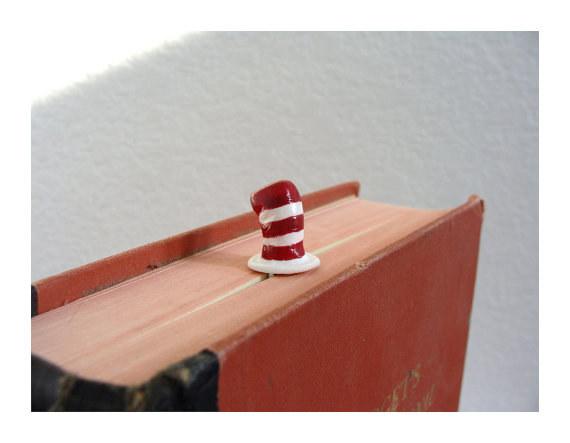 Segnalibro Gatto col cappello - Lande Incantate
