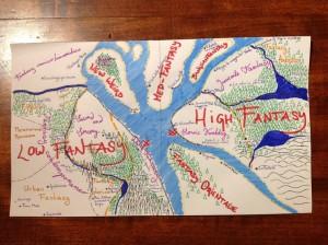 Mappa Fantaciclopedia - Lande Incantate