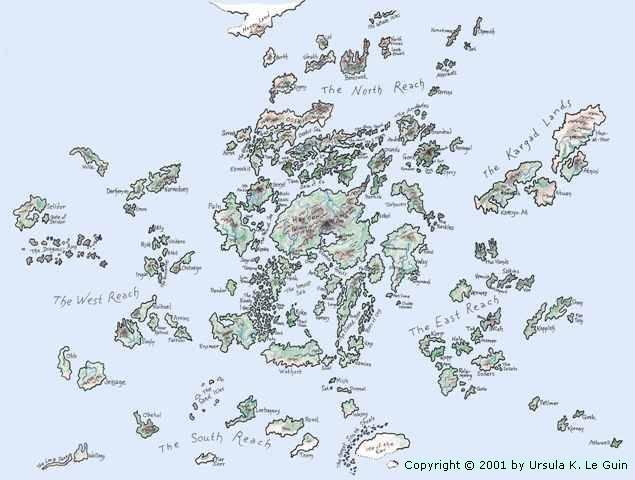 Mappa Earthsea - Lande Incantate
