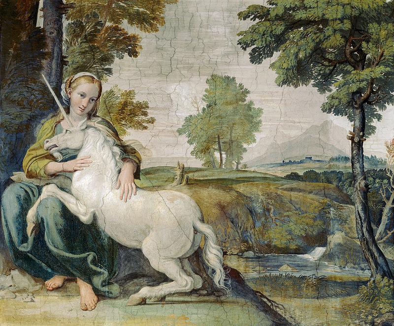 Domenichino unicorno Palazzo Farnese - Lande Incantate