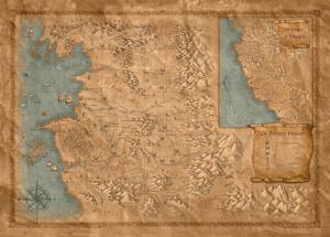 Mappa del mondo de Il guardiano degli innocenti - Lande Incantate