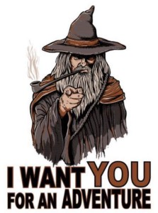 I want you for an adventure - Gandalf - Lande Incantate