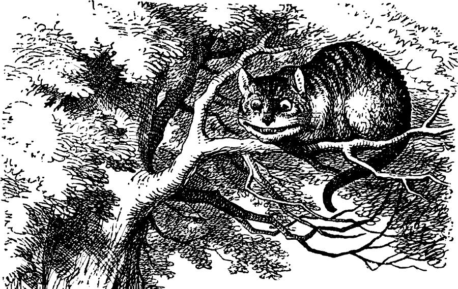 cheshire cat smiling john tenniel - Lande Incantate