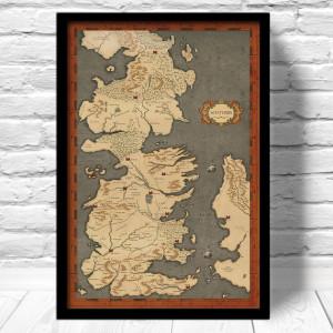 Mappa Westeros - Trono di Spade - Lande Incantate