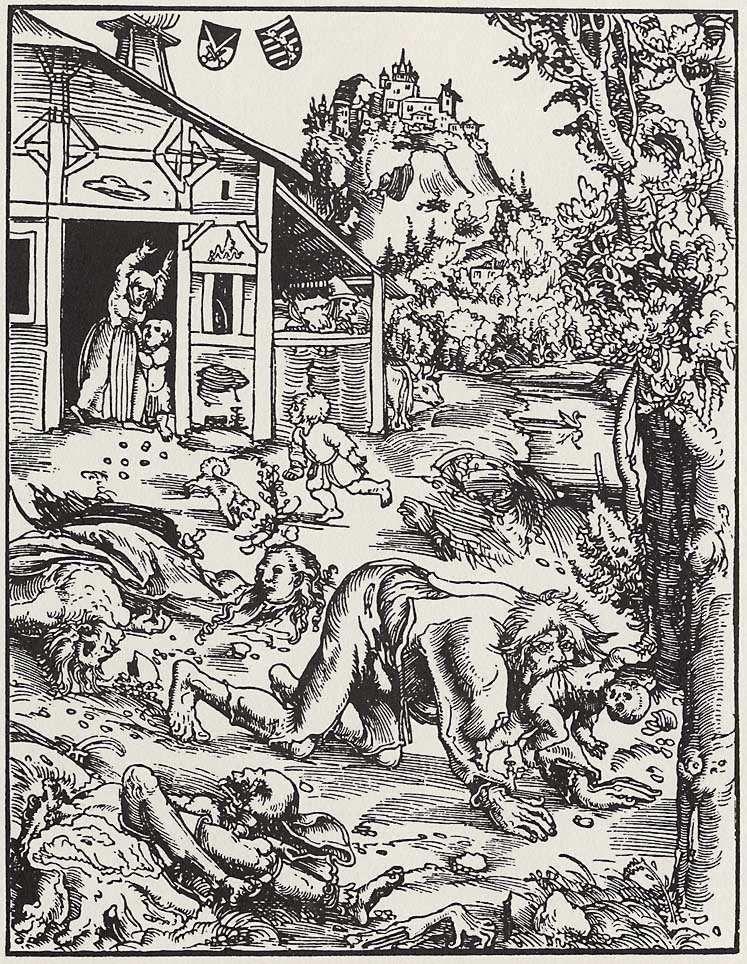 Lupo mannaro, Lucas Cranach il vecchio - Lande Incantate