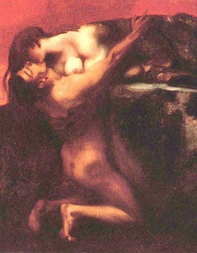 Franz Von stuck, Il bacio della sfinge - Lande Incantate
