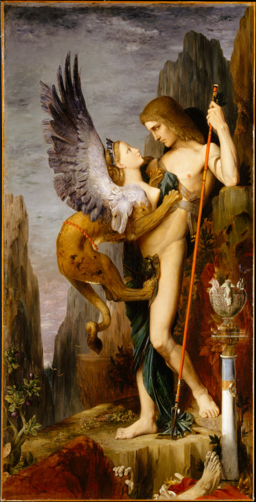 Gustave Moreau, Edipo e la Sfinge - Lande Incantate