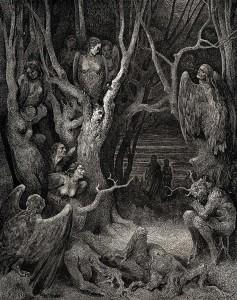 selva dei suicidi, Gustav Dorè - Lande Incantate