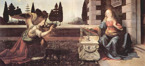 Annunciazione, Leonardo da Vinci - Lande Incantate