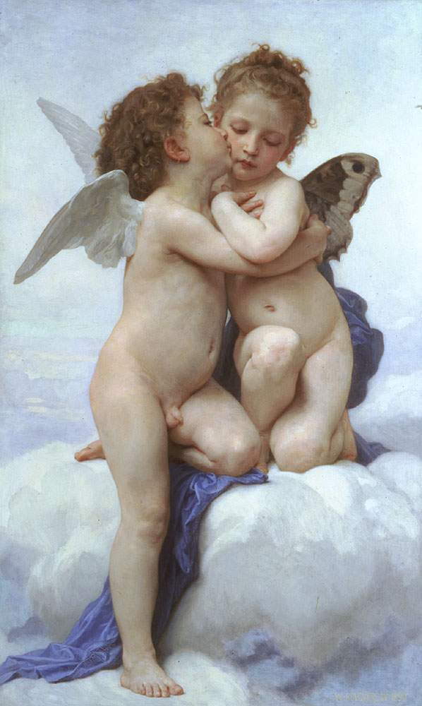 Il primo bacio, William Adolphe Bouguereau - Lande Incantate