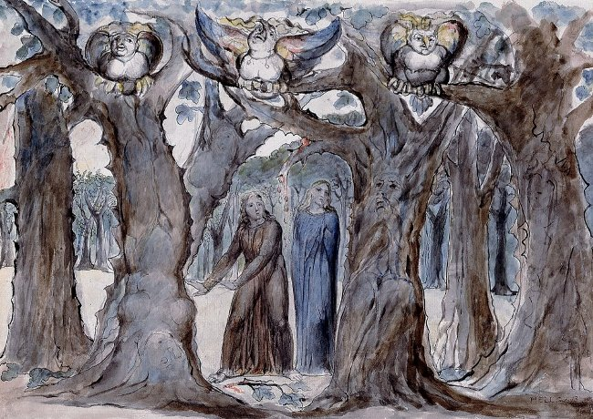 The Harpies and the Suicides , William Blake - Lande Incantate