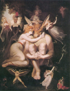 Henry Fuseli - Titania Awakes Surrounded by Attendant Faries - 1794 . Lande Incantate