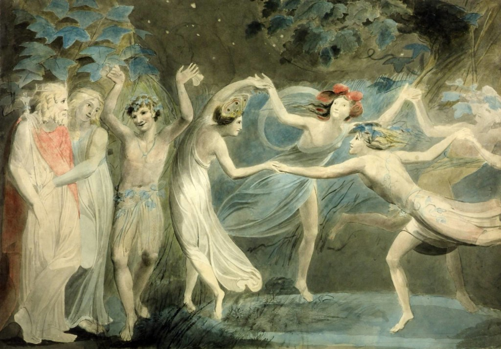 Oberon, Titania and Puck with Fairies Dancing 1786 William Blake - Lande Incantate