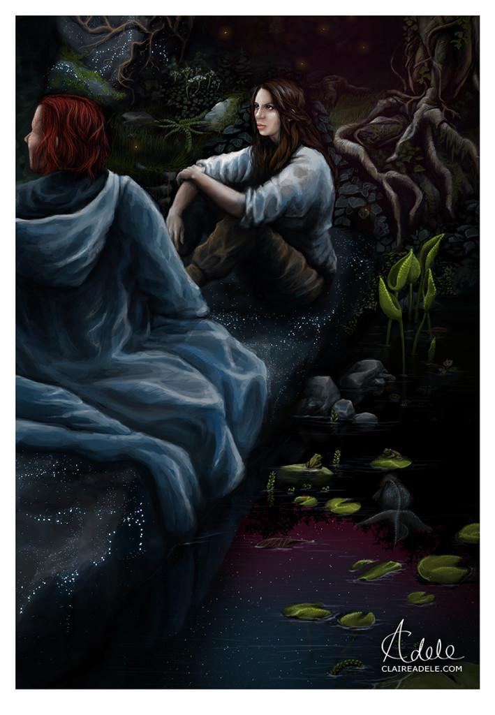 Kvothe e Denna - Il nome del vento - Lande Incantate