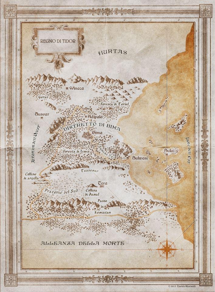 mappa-regno-di-tidor - Lande Incantate